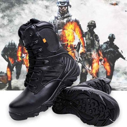 Army combAt boots men online shopping - Army Men Commando Combat Desert Outdoor Hiking Boots Landing Tactical Military Shoes Army Commando Ranger Tactical Combat Boots Military
