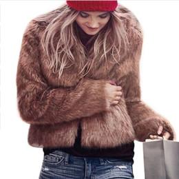 White Short Sleeve Faux Fur Australia - Luxury Fluffy Rabbit Fur Coat Women Winter Collarless Long Sleeve V-neck Fur Jackets Overcoat Wedding Cardigan Short Coat 6Q0204 S112