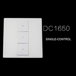 remote control roller 2019 - Dooya wall switch DC1650 DC1651 SINGLE DOUBLE CHANNEL remote control,DC1680 DC114B single receiver with wires for tubula