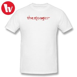 Pop Tees Australia - Iggy Pop Shirt T-Shirt Men Print The Stooges distressed (red) T Shirts Funny Cotton T Shirt Awesome Summer Casual Tee