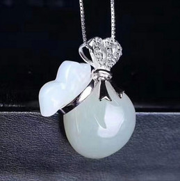 $enCountryForm.capitalKeyWord NZ - 925 silver jewelry Natural White jade wholesale natural Hetian jade money bag pendant