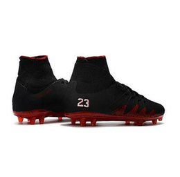3596387fa06 New Sale 2017 Black Red Hypervenom Phantom II FG Neymar x JR Soccer Cleats  CR7 Indoor Soccer Shoes For Men