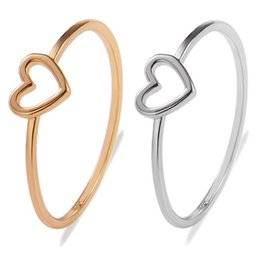 Wholesale High Quality Gold Color Heart Love Shape Charm Ring Feminino Midi Toe Bague Friendship Eternal Forever Best Gift