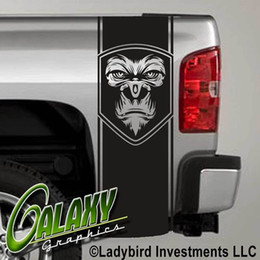 $enCountryForm.capitalKeyWord Australia - For Universal 1Set 2Pcs Tribal Gorilla Truck Bed Decal x2 - Ram Chevy Ford - Stickers
