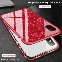 Discount note aluminum case bumper - for iPhone Xs Max Xr Metal Magnetic Smart Phone Case Bumper Aluminum + Tempered Glass Back Cover Shell Magnetic Glass Ca