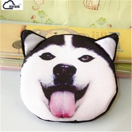 Dog Zipper Australia - 3D animal cat purse coin bag Super cute zipper mini coin purses cat shake dog 16 styles wallet purse bag stuffed
