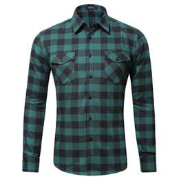 Ss Shirts NZ - Spring Mens Plaid Casual Shirts Long Sleeve 100% Cotton Dress Shirt Men Retro Camiseta Masculina SS-008