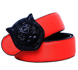 $enCountryForm.capitalKeyWord Canada - New Arrival Designer Belt Men High Quality Luxury Leather fancy vintage jean Fashion Trend Lion Buckle Wide Black Waist Strap