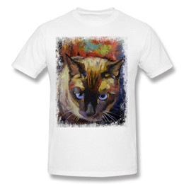 mens 5xl t shirts UK - Best Sale Mens 100% Cotton SEAL POINT SIAMESE T Shirts Mens Crewneck Black Short Sleeve Tee Shirt Big Size Simple Style T Shirts