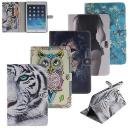 China Wallet Leather Australia - Sexy Tiger Lion Owl Stand wallet Flip Pu leather Case For ipad 234 5 6 Pro 9.7 Mini 123 4 Samsung T280 T350 T550 T580