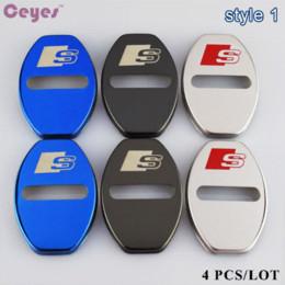 Vente en gros Ceyes Auto Emblèmes Car Styling Porte Serrure Case Pour Audi S Ligne A3 A4 A5 A6 B8 C5 B6 B5 B7