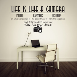 $enCountryForm.capitalKeyWord NZ - Life is Like a Camera Quotes and Sayings Lettering Removable Wall Stickers Wall Decor Home Decor Wall stickers decor Living Room