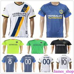 bec49eca2 2017 2018 Los Angeles Galaxy Soccer Jerseys 8 GERRARD 10 GIOVANI DONOVAN 7  KEANE 11 ZARDES 3 COLE 13 JONES Football Shirts Kits