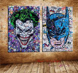 $enCountryForm.capitalKeyWord Australia - Joker VS Batman , Canvas Pieces Home Decor HD Printed Modern Art Painting on Canvas (Unframed Framed)