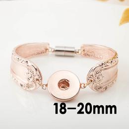 Rose Gold Snap Buttons NZ - Snap magnet buckle Bracelets DIY Noosa Chunks Snap Bracelet Fit 18mm Buttons rose gold Plated Noosa Snap Jewelry Fashion Bracelets