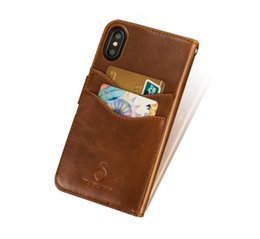 cell phone kickstand Canada - For APPLE iPhoneX iphone 6 7 8 SE Plus Wallet Case Split PU Leather Bag Kickstand cell phone Case for iPhone Back Cover
