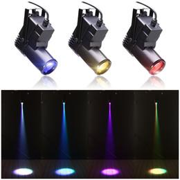 usa lighting 2019 - Mini 10W RGBW 4in1 Led Pinspot Spotlights Disco Spot DMX LED Rain Stage Light DJ Stage Party Show Light discount usa lig