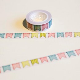 Wholesale JG402 CM Wide Colorful Flags Washi Tape DIY Scrapbooking Sticker Label Masking Tape School Office Supply