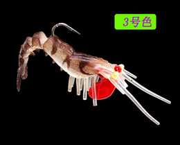 Soft Lure Bait Section Australia - 5colors UV soft shrimp fishing lure 50mm 6.5g TPR luminous bait With lead Hooks multi section Soft shrimp free shipping