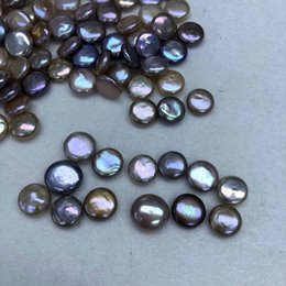 $enCountryForm.capitalKeyWord Canada - Single 10-15MM Buttons Coin Pearl Mix Colors Loose Pearls For DIY Festival Gift Making Bracelet Necklace Jewelry Gift Free Shipping