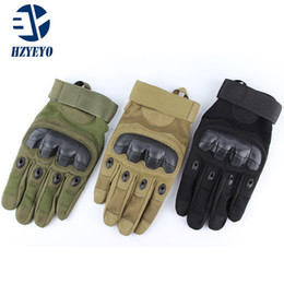 army gloves 2019 - HZYEYO Mens full finger Outdoor gloves Climbing Bicycle Antiskid glove microfiber Training Guantes 001 cheap army gloves