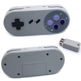 nes classic mini 2018 - Wireless Controller for Super Nes Mnini Classic Edition Purple Button 2.4G Wireless Gamepads Receivers for SNES Mini che