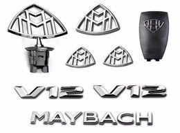 Großhandel 8er Set Mercedes Emblem-Maybach S-Klasse Haube Standfender hinten Abzeichen V12 W222 W221