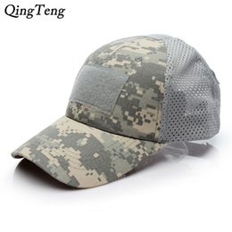 $enCountryForm.capitalKeyWord NZ - Desert Digital Male Tactical Baseball Cap CP Camouflage Breathable Net Hats For Men Hook And Loop Badge Patch Bone Pytho Ruins