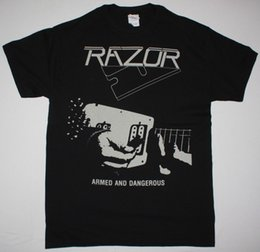Speed S NZ - RAZOR ARMED AND DANGEROUS SPEED THRASH METAL EXCITER S 2XL NEW BLACK T-SHIRT