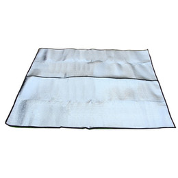 China Square Foldable Picnic Blanket Dustproof Double Sided Aluminum Film Meadow Mats Insulation Thicken Moisture Proof Pad Top Quality 11sy B supplier family mat suppliers
