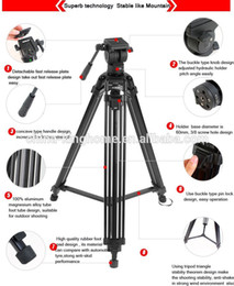 Discount tripod stand for dslr - Diat A193L Aluminum Heavy Duty Fluid Head Camera Tripod for Camcorder DSLR Stand Professional Video Tripod