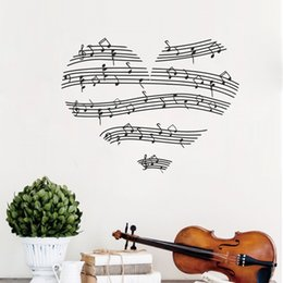 $enCountryForm.capitalKeyWord Australia - Romantic Heart-Shaped Notes Decorative Wall Decals Wall Stickers Music Bedroom Decor Art Painting Wall Stickers Vinyl Decor Decals