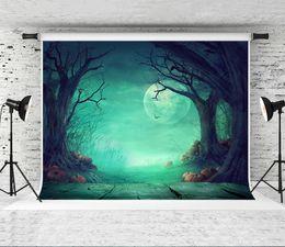 $enCountryForm.capitalKeyWord NZ - Dream 7x5ft(220x150cm)Halloween Photography Background Blue Sky Moon Forest Photo Backgrounds Prop Shoot Studio Wood Floor Backdrop