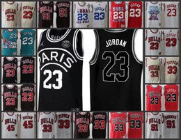 China Chicago Men Bulls #23 45 Michael jerseys 33 Pippen 91 Rodman Zach Paris joint name Stitched jersey cheap jersey 45 suppliers