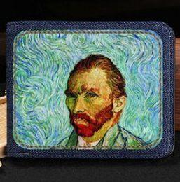 $enCountryForm.capitalKeyWord Canada - Self portrait wallet Vincent Willem van Gogh purse Nice short cash note case Money notecase Leather burse bag Card holders