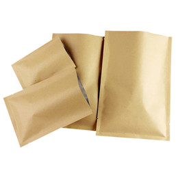 Wholesale gift snacks online shopping - 10 cmFlat flat Kraft paper Inner aluminum plating Three sided seal Gifts Snacks tea Moisture and corrosion protection seal Vacuum bag