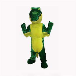 Chinese  High quality carnival adult crocodile mascot costume free shipping,Real pictures deluxe the party crocodilian mascot costume factory direct manufacturers