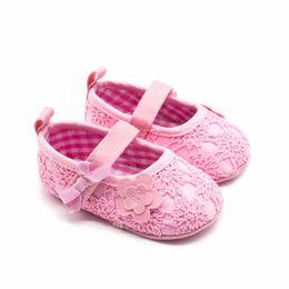 First Walkers Sweet Newborn Baby Girls Princess Polka Dot Big Bow Infant Toddler Ballet Dress Soft Soled Anti-slip Shoes Footwear