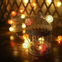 short string lights australia 22m set 20 lamp color 4cm rattan ball battery box