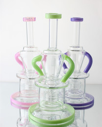 $enCountryForm.capitalKeyWord NZ - Water pipe bong glass bongs dab rig with four colors factory sales support mixed batch glass smoking pipe recycler oil rigs