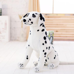 New 35 90cm Large Stuffed Soft Plush Simulated Animal Dalmatians Dog Toy Great Kids Gift Free Shipping