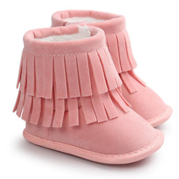 $enCountryForm.capitalKeyWord UK - Baby Boots 2017 Fashion Baby Keep Warm Double-deck Tassels Soft Sole Snow Boots Soft Crib Shoes Toddler D50
