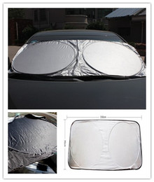 auto sun shades 2019 - 150*70CM Car Sunshade Front Rear Windshield Window Foldable Sun Shade Shield Sun Visor UV Block Auto Sun Visor Windshiel
