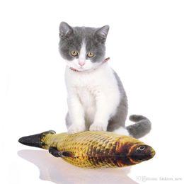 $enCountryForm.capitalKeyWord UK - 20cm Size Artificial Fish Plush Pet Cat Puppy Dog Toys Sleeping Toy Cat Mint Catnip Toys Cute Fish Tank Aquarium Decoration 7 Styles