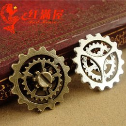 $enCountryForm.capitalKeyWord NZ - A3882 22MM Antique bronze Gear charms connector retro jewelry wholesale, bulk tibetan silver plated pendants for bracelet and necklace