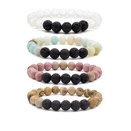 Black Rock Beads Australia - Natural Chakras Black Lava Stone Beads Bracelets Essential Oil Diffuser Bracelet Volcanic Rock Beaded Hand Strings Jewelry