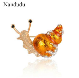 Chinese  Nandudu Snail Style Brooches for Girl Women Lady Christmas New Year Jewelry Gift Pin Scarf Hat Cap Dress Accessories X286 manufacturers