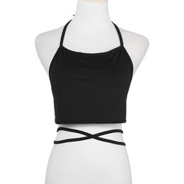 0d03675c87 Sexy Backless Crop Top Bandage Halter Female Free Size Bra Tank Women s  Tops Vest Base Shirt Slim Cropped Women s Blouse