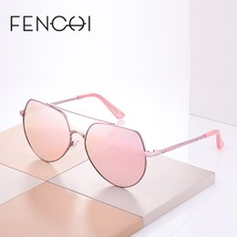 brand x sunglasses NZ - X FENCHI New Sunglasses Women Round Metal Brand Designer Mirror Diamonds Sunglasses Driving Fashion Sun glasses