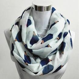 Cotton Viscose Scarves Australia - New Women Ladies Fashion Viscose Cotton Hedgehog Print infinity scarf Fashion Animal Scarves Shawl Wrap hot sale neckerchief